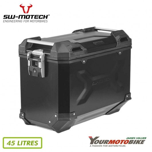 SW Motech TRAX ADV L Side case Aluminum 45 l Left Black