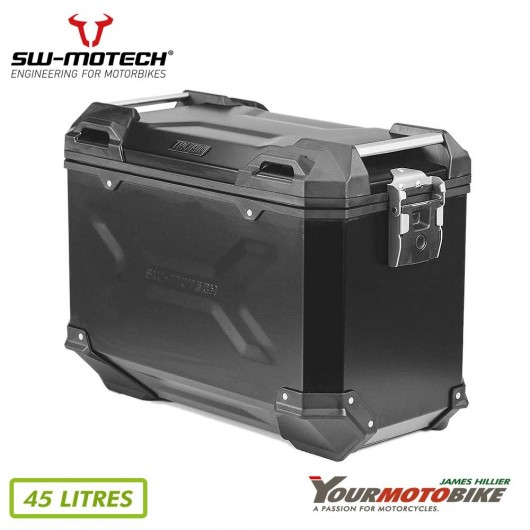SW Motech TRAX ADV L Side case Aluminum 45 l Right Black