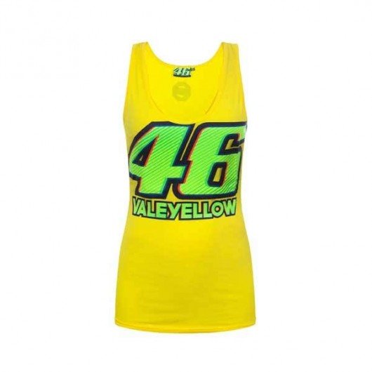 VR46 Ladies Tank Top Yellow 46