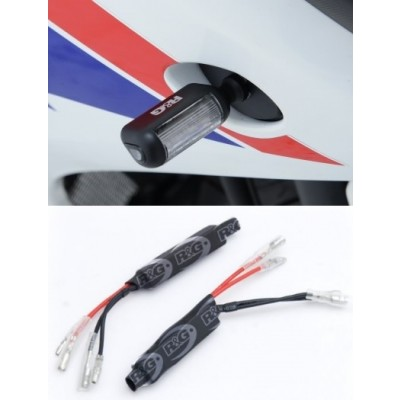R&G LED Micro Aero Style Motorcycle Indicators with Resistors