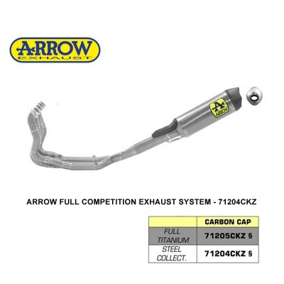 BMW S1000rr 19-20 Full Arrow Exhaust System Ti/Stainless - 71204CKZ