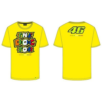 VR46 Yellow Stripes T-shirt