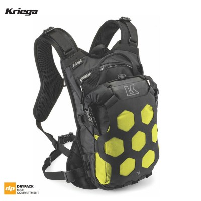 Kriega TRAIL 9 ADVENTURE BACKPACK - Lime