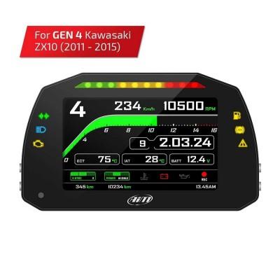 Kawasaki Ninja ZX-10R 11 - 15 Gen 4 Plug & Play AIM Dash & Logger