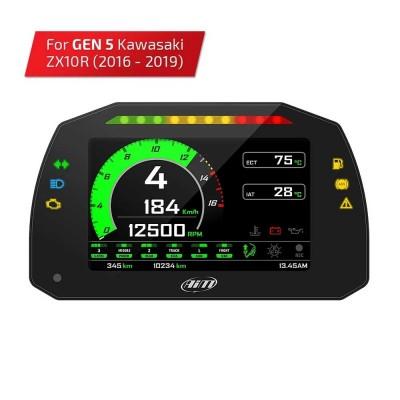 Kawasaki Ninja ZX-10R 16 - 19 Gen 5 Plug & Play AIM Dash & Logger