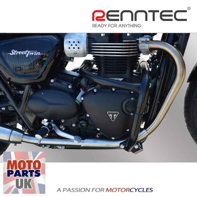 Triumph Bonneville / Street Twin/Cup / Thruxton 16> W/C - Black Engine Bars