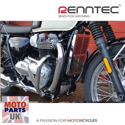 Triumph Bonneville / Street Twin/Cup / Thruxton 16> W/C - Chrome Engine Bars