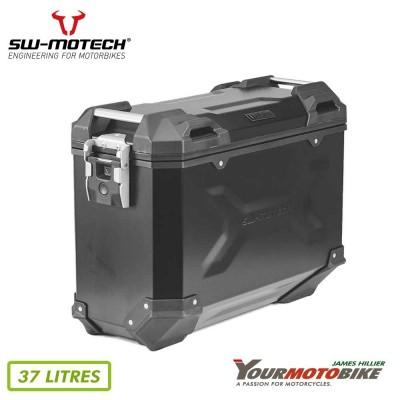 SW Motech TRAX ADV M Side case Aluminum 37 l Left Black