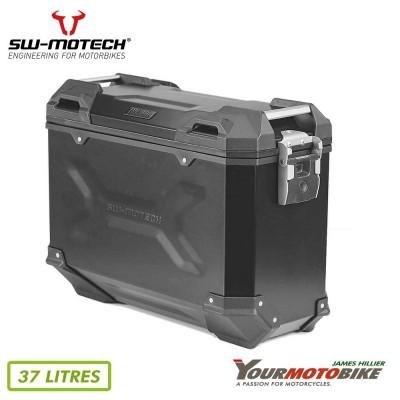 SW Motech TRAX ADV M Side case Aluminum 37 l Right Black