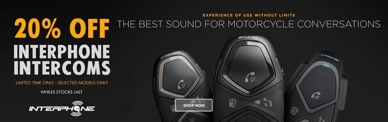 20% Off Interphone Bluetooth Headsets